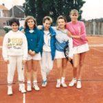 1987 - Scolaire fille Champion Provincial               I. Bruzzeze - S. Vastmans - V. Jadot - S. Bodart - C.Tombu